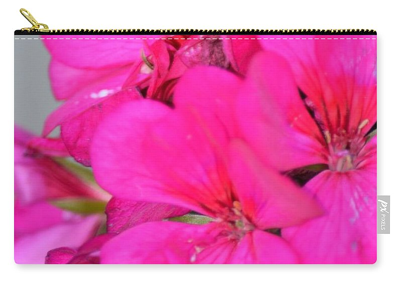 Hot Pink In February Carry-all Pouch featuring the photograph Hot Pink In February by Maria Urso