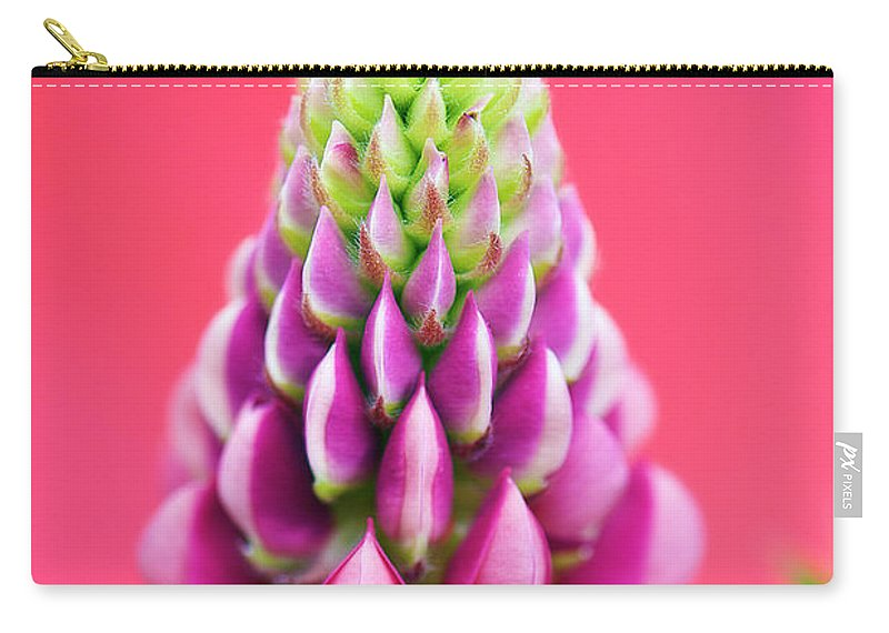 Interior Design Carry-all Pouch featuring the photograph Hot Pink Lupine by Lisa Knechtel