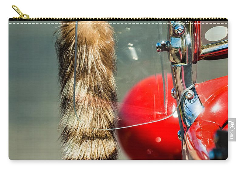 Hot Rod Carry-all Pouch featuring the photograph Hot Rod Coon's Tail by Jill Reger