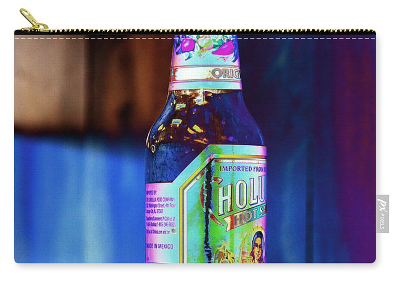 Hot Sauce Carry-all Pouch featuring the photograph Hot Sauce One by Cathy Anderson
