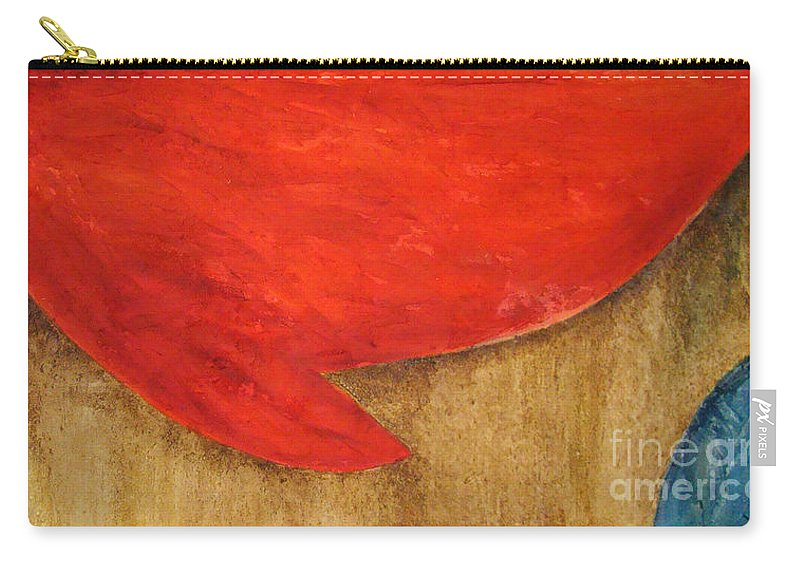 Abstract Carry-all Pouch featuring the painting Hot Spot by Silvana Abel