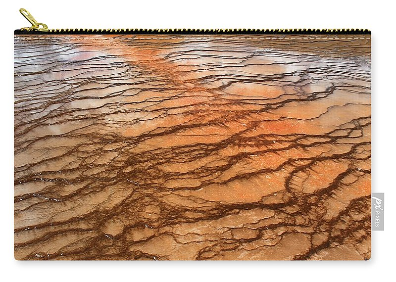 Yellowstone National Park Carry-all Pouch featuring the photograph Hot Stones by Catie Canetti