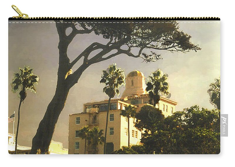 Landscape Carry-all Pouch featuring the photograph Hotel California- La Jolla by Steve Karol