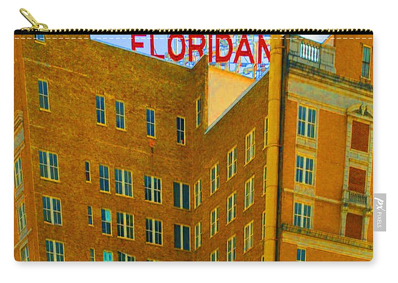 Hotel Carry-all Pouch featuring the photograph Hotel Floridan by Jost Houk
