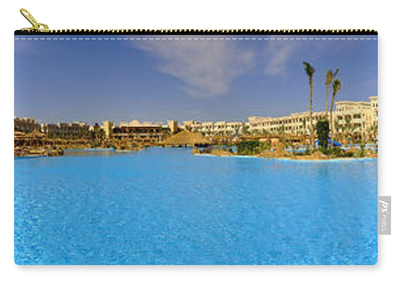 Panorama Carry-all Pouch featuring the photograph Hotel Resort Panorama by Antony McAulay