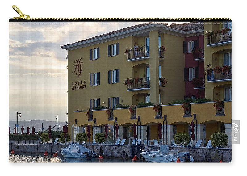 Francacorta Carry-all Pouch featuring the photograph Hotel Sirmione. Lago Di Garda by Jouko Lehto