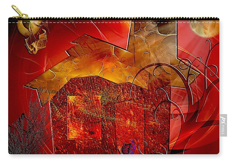 Graphics Carry-all Pouch featuring the digital art House 0589 Marucii by Marek Lutek