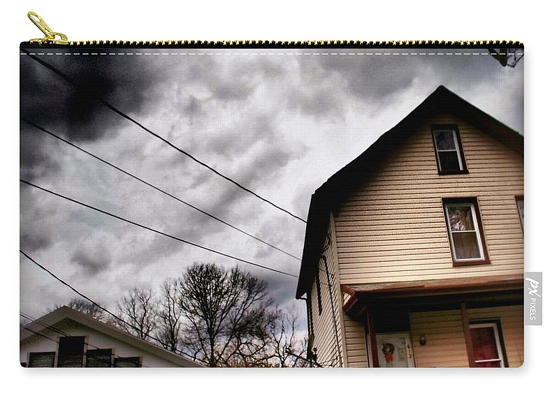Haunted House Carry-all Pouch featuring the photograph Old House 3 by Miriam Danar