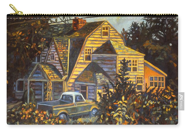Kendall Kessler Carry-all Pouch featuring the painting House In Christiansburg by Kendall Kessler