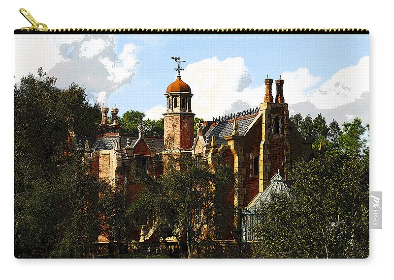 Art Carry-all Pouch featuring the painting House Of 999 Ghosts by David Lee Thompson