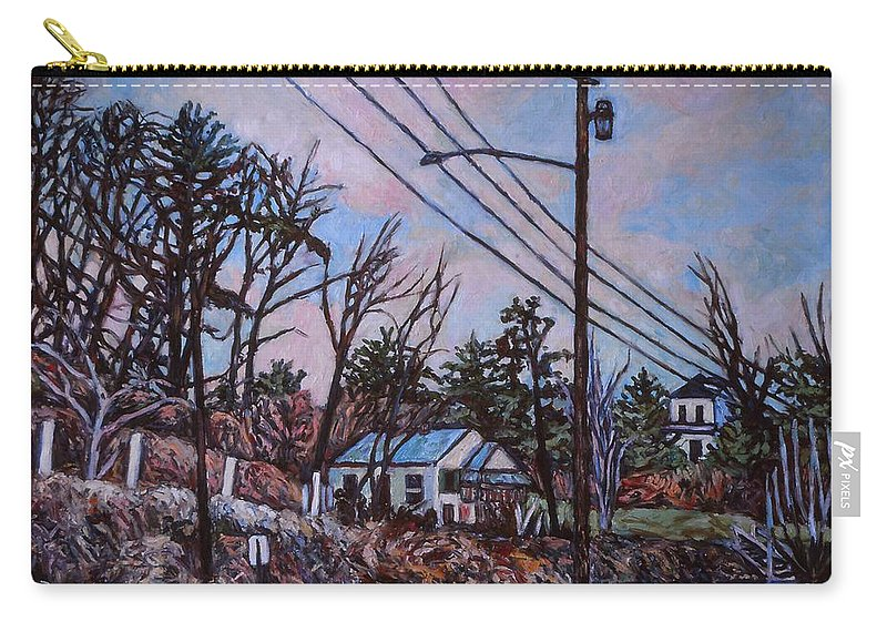 Houses Carry-all Pouch featuring the painting Houses in Pulaski by Kendall Kessler