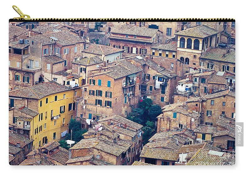 Italy Carry-all Pouch featuring the photograph Houses Of Old City Of Siena - Tuscany - Italy - Europe by Stephan Pietzko
