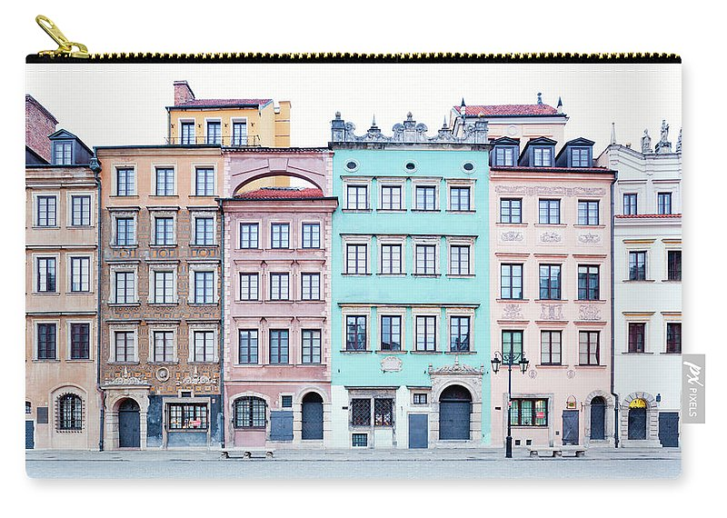 Apartment Carry-all Pouch featuring the photograph Houses On Old Town Market Place by Jorg Greuel
