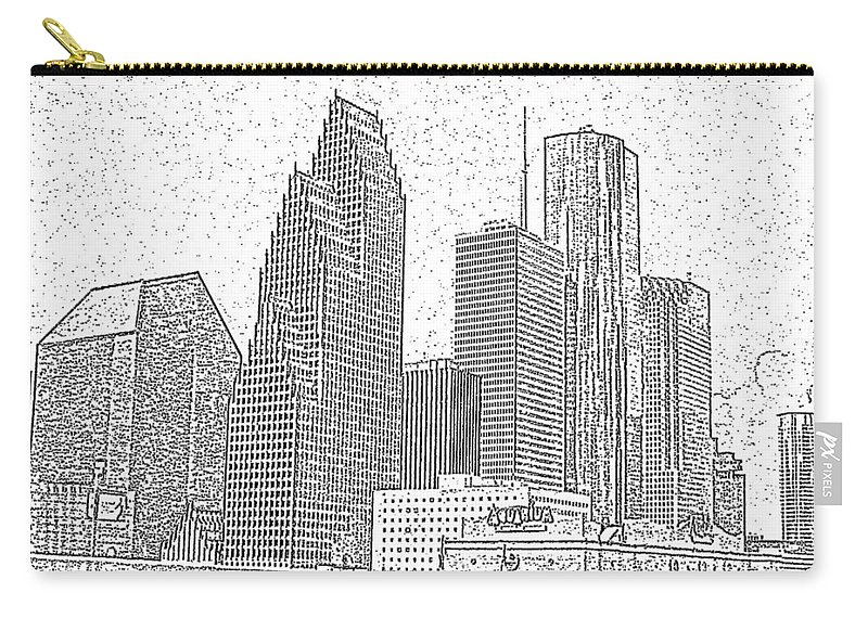 Skyscape Carry-all Pouch featuring the photograph Houston Skyline Abstract by Jeanne A Martin