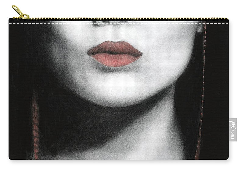 Woman Carry-all Pouch featuring the painting How Do I Love Thee...let Me Count Your Money by Pat Erickson