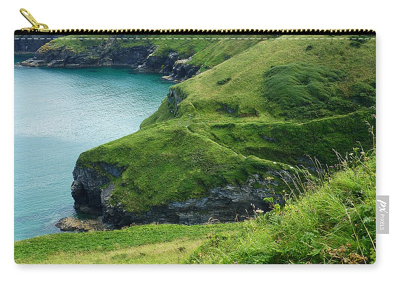 Green Carry-all Pouch featuring the photograph Rolling Hills Of Green by Connie Handscomb