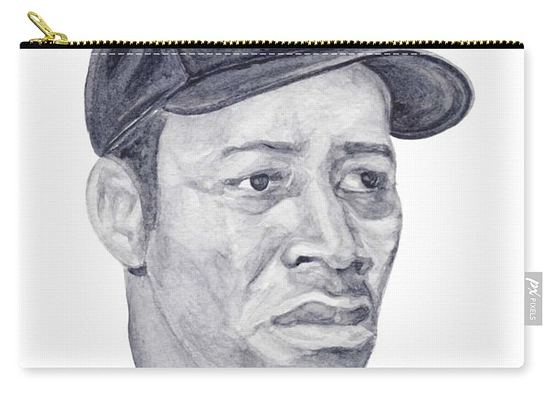 Elston Howard Carry-all Pouch featuring the painting Howard by Tamir Barkan