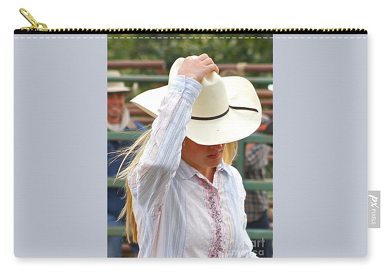 Cowgirl Carry-all Pouch featuring the photograph Howdy by Rick Monyahan