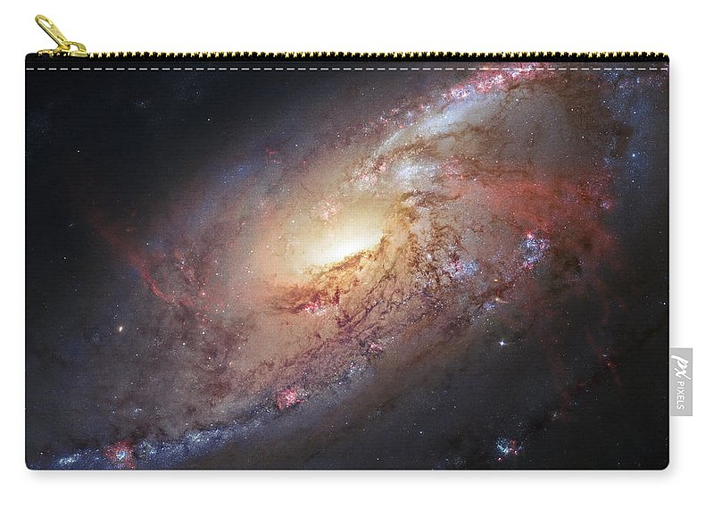 3scape Carry-all Pouch featuring the photograph Hubble view of M 106 by Adam Romanowicz