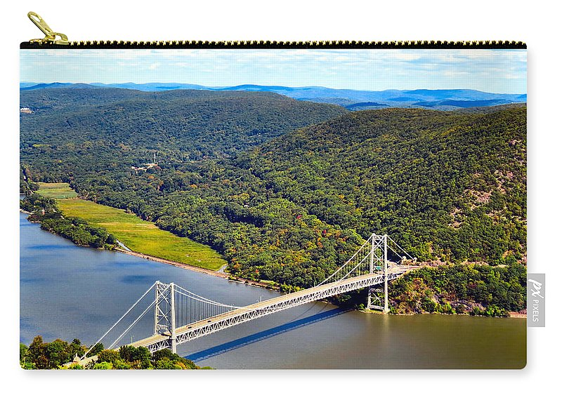 Sky Carry-all Pouch featuring the photograph Bear Mountain Bridge by Art Dingo