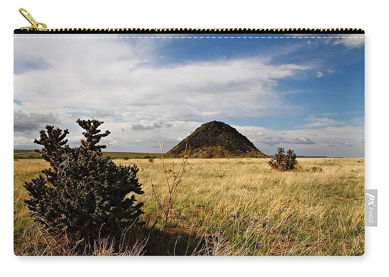 Huerfano Butte Carry-all Pouch featuring the photograph Huerfano Butte by Marcelo Albuquerque