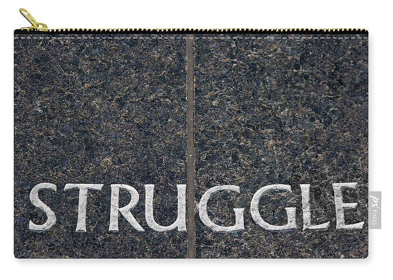 Struggle Carry-all Pouch featuring the photograph Human Rights Struggle by Donna Haggerty