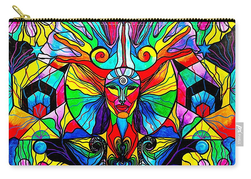 Human Self Awareness Carry-all Pouch featuring the painting Human Self Awareness by Teal Eye Print Store