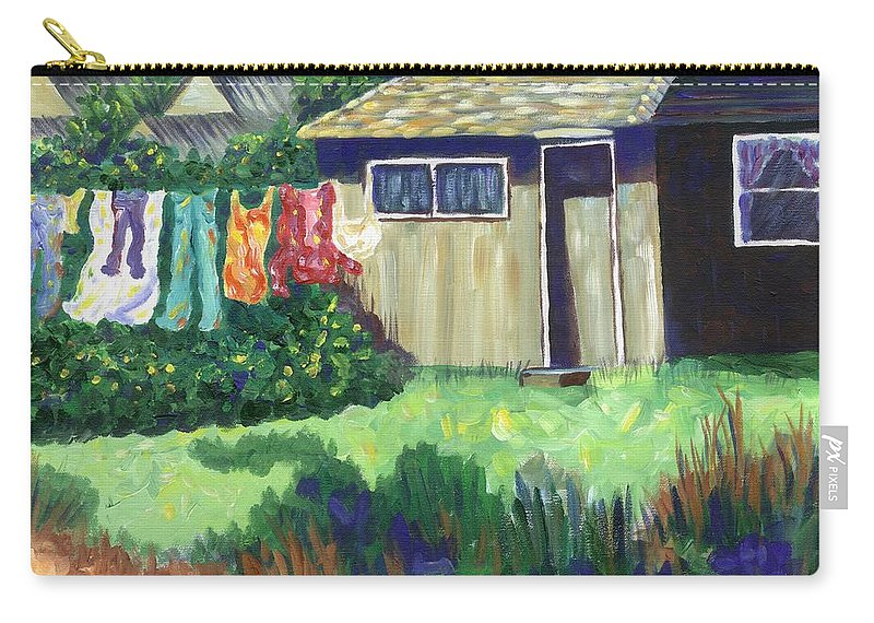 House Carry-all Pouch featuring the painting Humble Elegance by Linda Mears