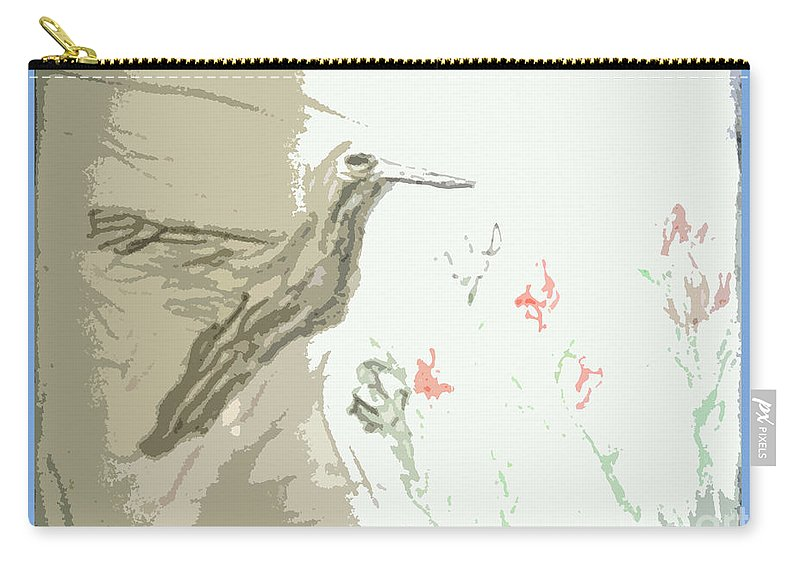 Scenery Carry-all Pouch featuring the painting Hummingbird by Ayyappa Das