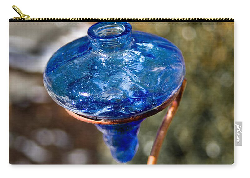 Hummingbird Carry-all Pouch featuring the photograph Hummingbird Drinking Crystal by Douglas Barnett