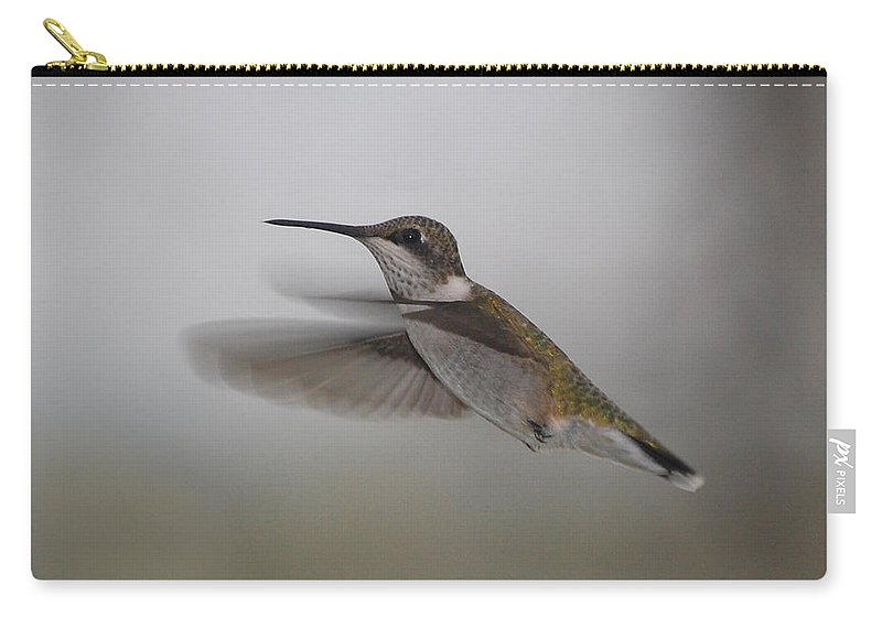 Humming Bird Carry-all Pouch featuring the photograph Hummingbird by Leticia Latocki