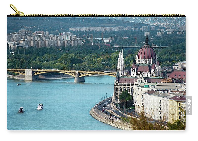 Arch Carry-all Pouch featuring the photograph Hungarian Parliament Building by Paul Biris