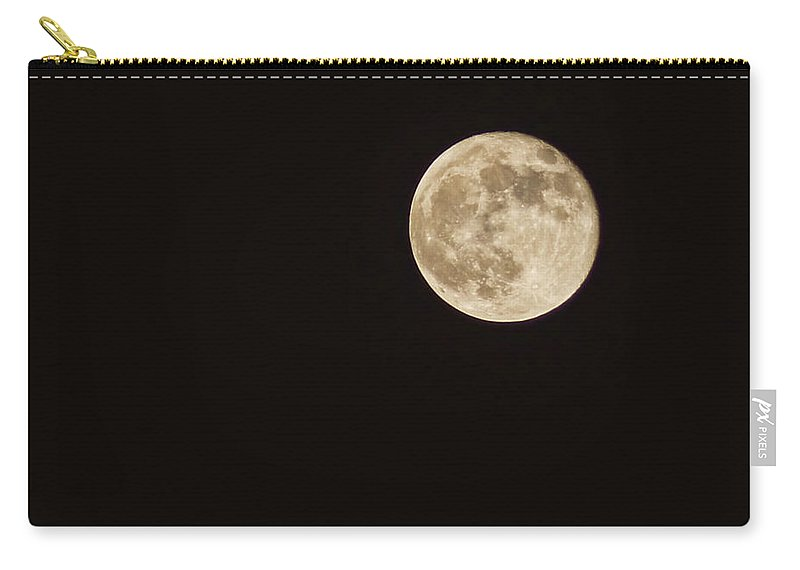 Moon Carry-all Pouch featuring the photograph Hunter's Moon by Cricket Hackmann