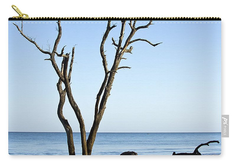 Hunting Island Carry-all Pouch featuring the photograph Hunting Island Graveyard by Sharon M Connolly
