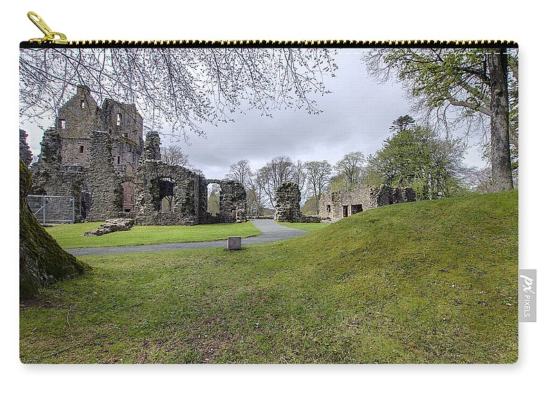 Huntly Carry-all Pouch featuring the photograph Huntly Castle - 4 by Paul Cannon