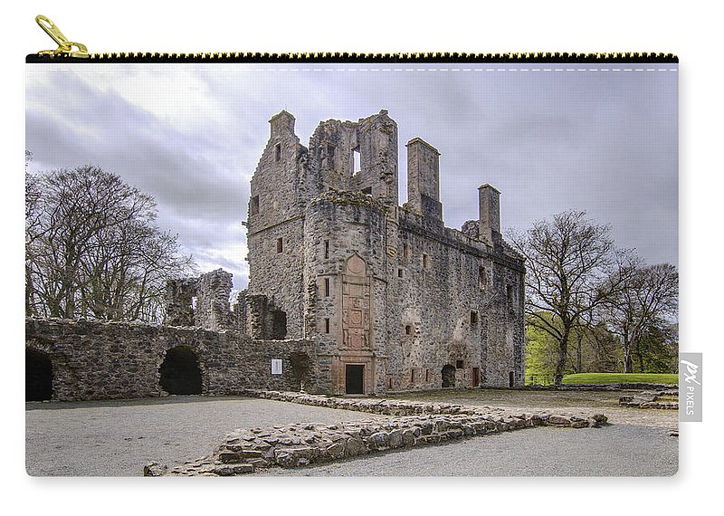 Huntly Carry-all Pouch featuring the photograph Huntly Castle - 5 by Paul Cannon