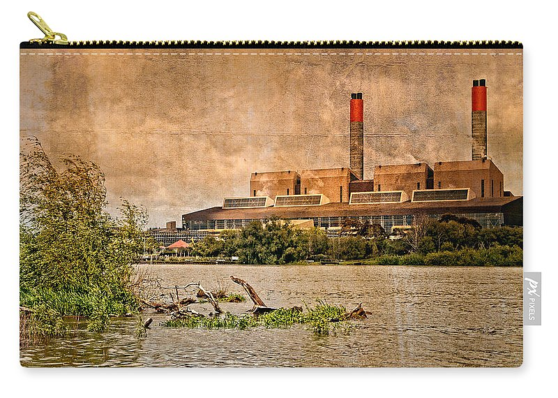Brown Carry-all Pouch featuring the photograph Huntly Power Station by Mark Llewellyn