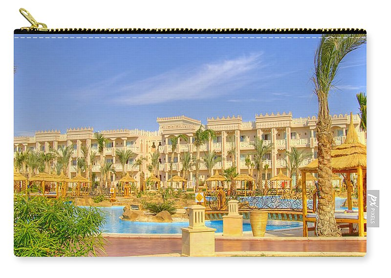 Panorama Carry-all Pouch featuring the photograph Hurghada Hotel 02 by Antony McAulay