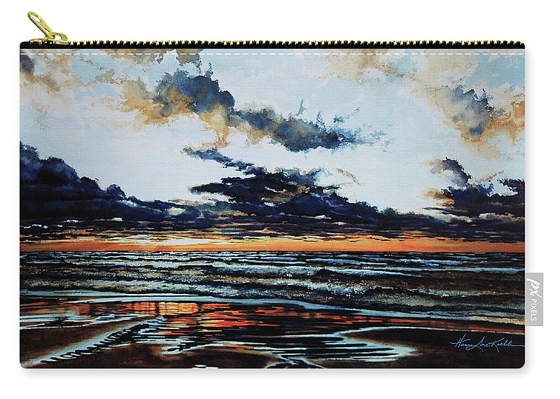 Lake Huron Carry-all Pouch featuring the painting Huron by Hanne Lore Koehler
