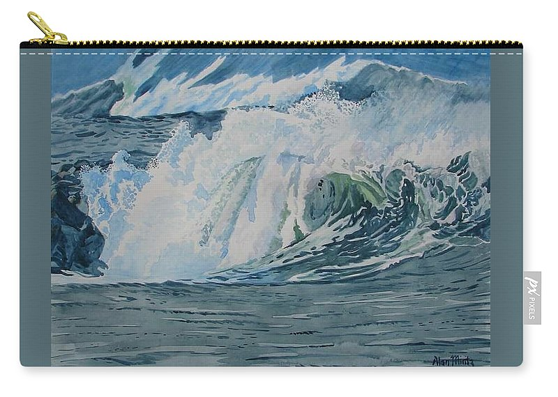 Hurricanes Carry-all Pouch featuring the painting Hurricane Ike by Alan Mintz