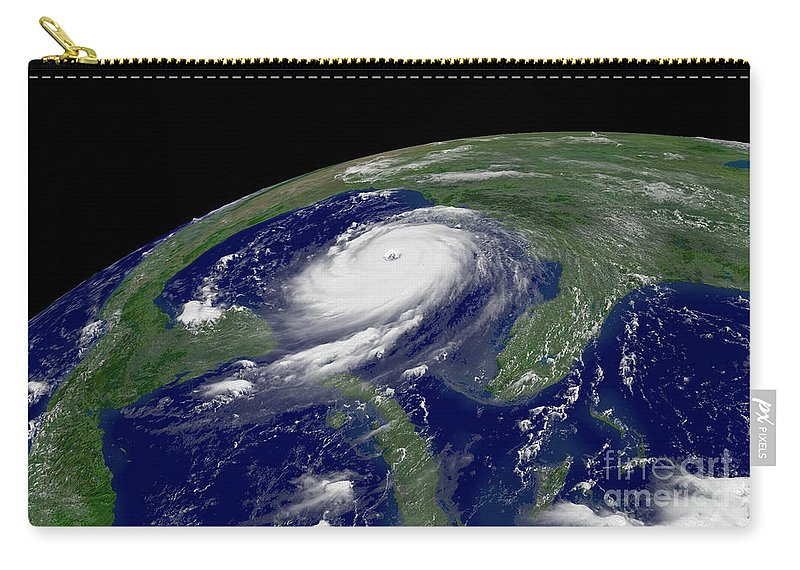 Hurricane Katrina Carry-all Pouch featuring the photograph Hurricane Katrina by Jon Neidert