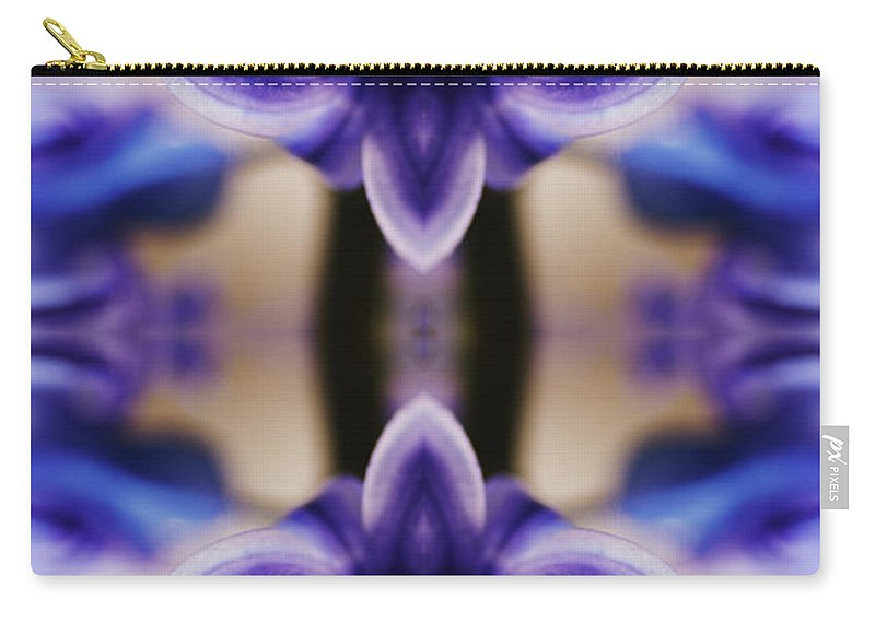 Purple Carry-all Pouch featuring the photograph Hyazinth by Silvia Otte