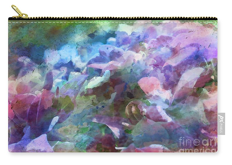 Nature Carry-all Pouch featuring the photograph Hydrangea Photoart II by Debbie Portwood