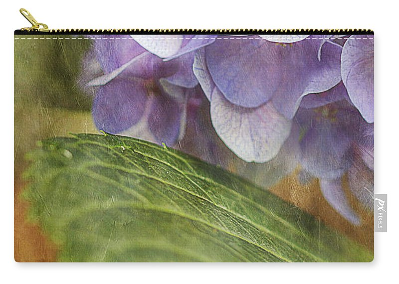 Flower Carry-all Pouch featuring the photograph Hydrangea Portrait by Joan McCool