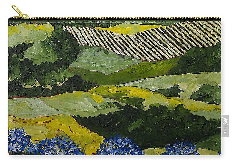 Landscape Carry-all Pouch featuring the painting Hydrangea Valley by Allan P Friedlander