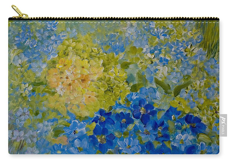 Hydrangea Carry-all Pouch featuring the painting Hydrangeas by Joanne Smoley