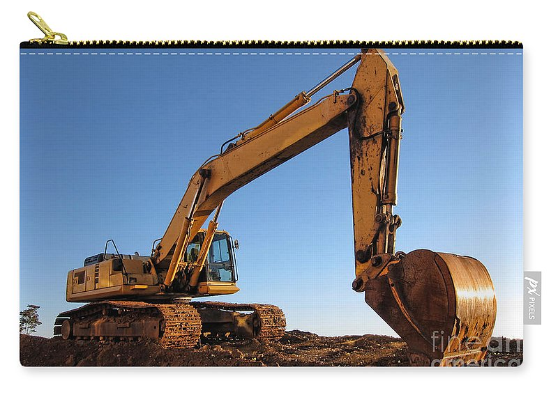 Excavator Carry-all Pouch featuring the photograph Hydraulic Excavator by Olivier Le Queinec