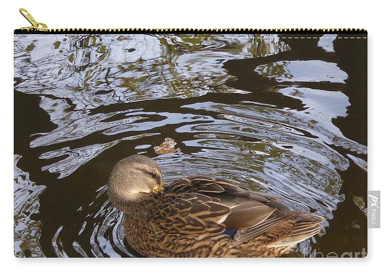 Carry-all Pouch featuring the photograph I Am Surrounded by Nili Tochner