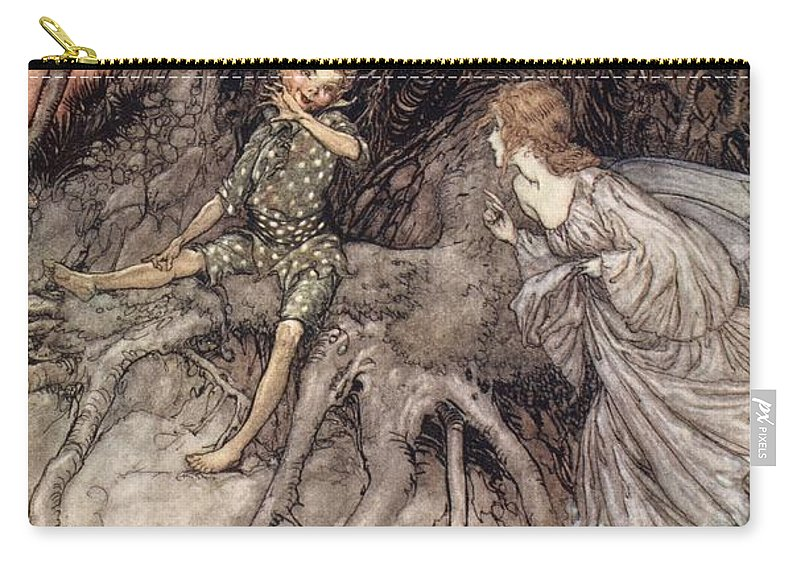 C20th Carry-all Pouch featuring the drawing I Am That Merry Wanderer Of The Night by Arthur Rackham
