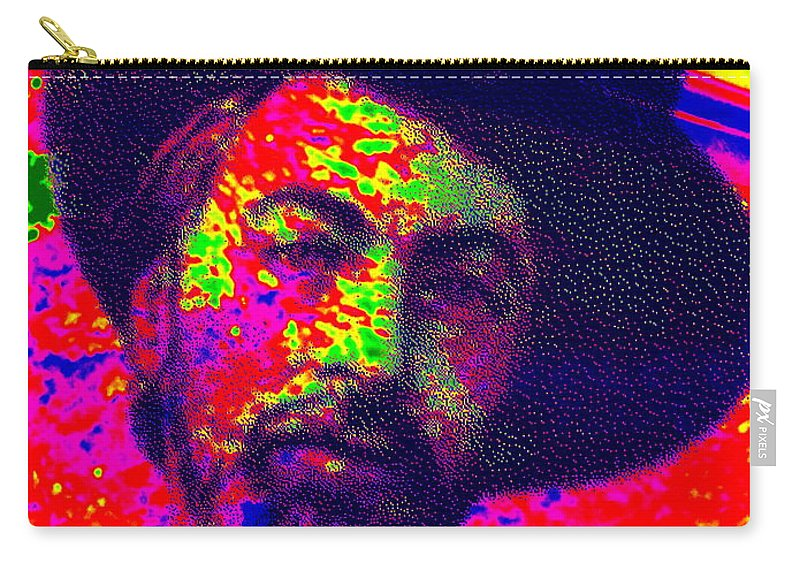 Pop Art Carry-all Pouch featuring the photograph I Celebrate Myself And Sing Myself  by Ed Weidman